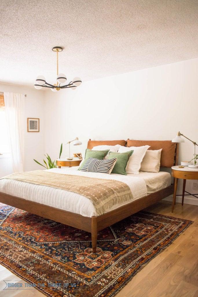 Vintage Modern Master Bedroom - Bigger Than the Three of Us
