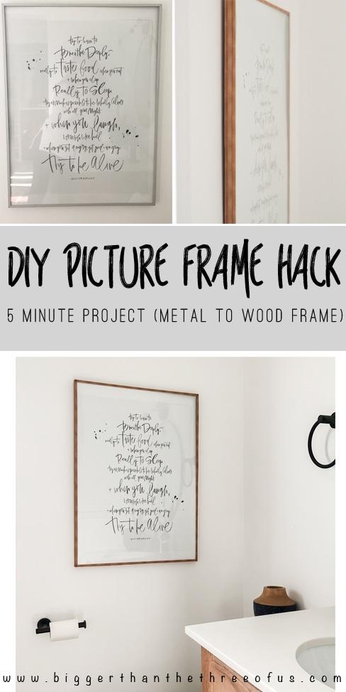 wood picture frame hack bigger than