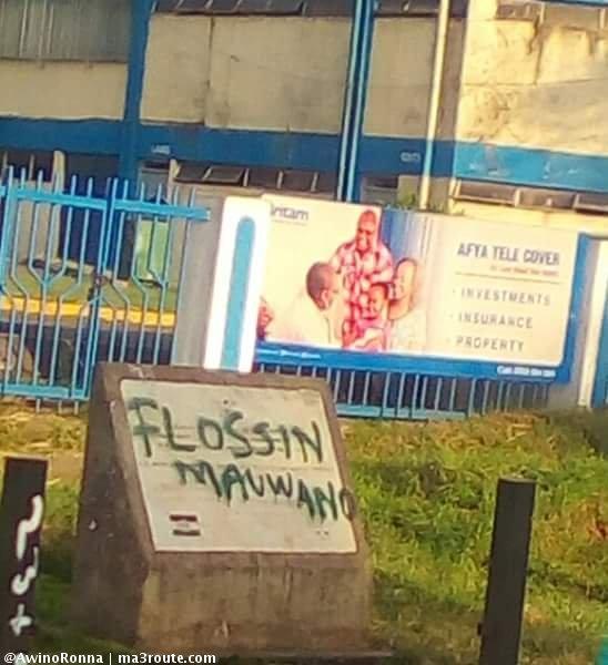 Flossin Mauwano's graffiti
