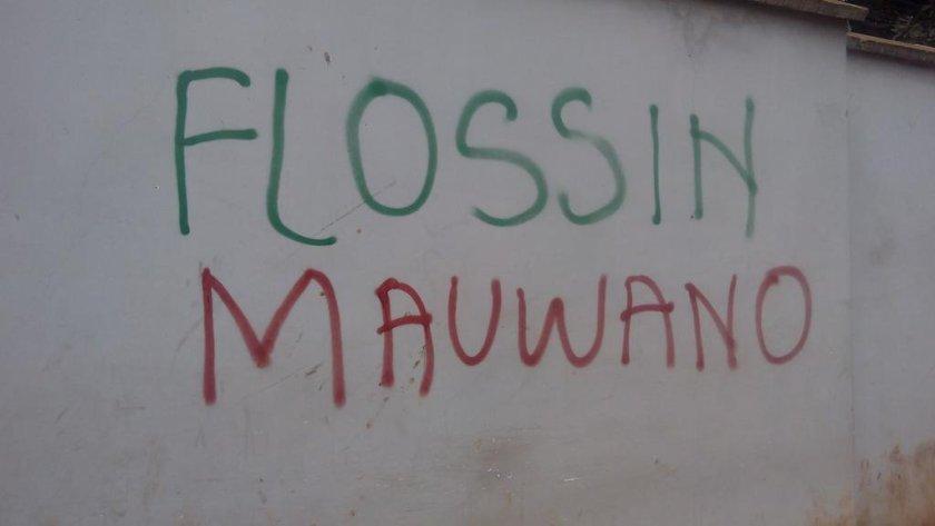 Flossin Mauwano graffiti