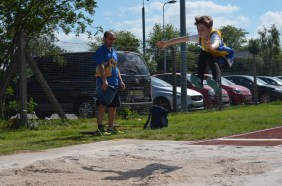 Long jump at track reopening 2. Photo by Stuart Goodwin