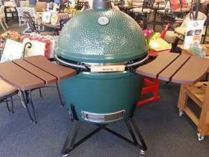 Composite-Shelves-EGG-Mate-for-Extra-Large-XL-Big-Green-Egg-EGG-2-shelves-with-three-slats-Official-Big-Green-Egg-Grill-Smoker-Accessories-Are-A-Must-For-Big-Green-Egg-Users-0