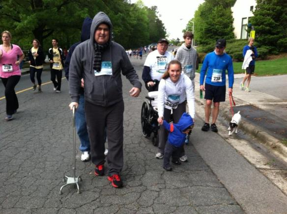 Dustin participates in the Angels Among Us 5K at Duke University (April 2013)