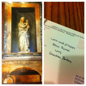 Postcard from Raphael's Tomb