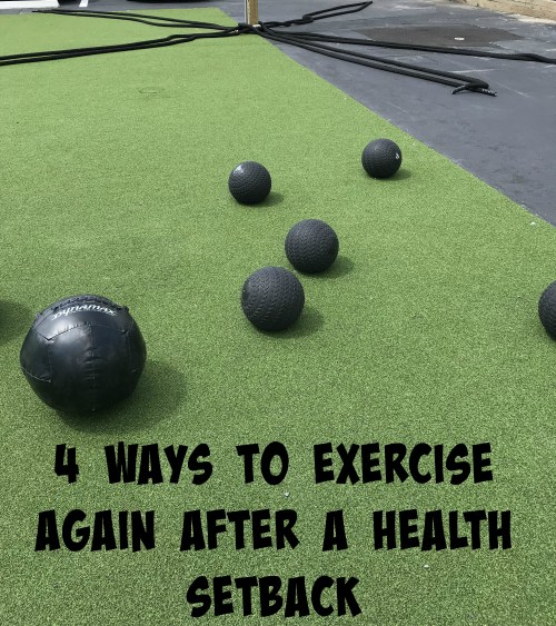 Exercise again after a health setback