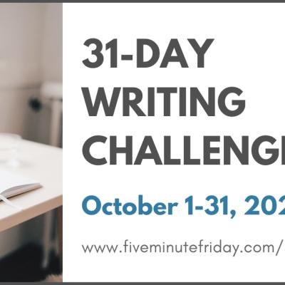 ESTABLISH: 31 days of 5-minute free writes