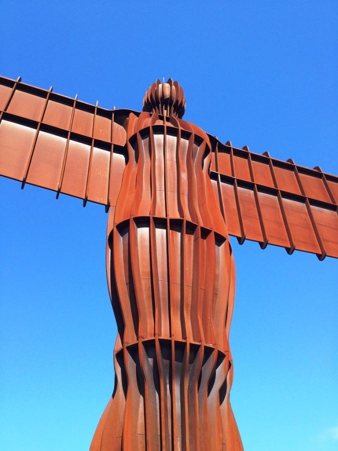 The Angel of the North close-up