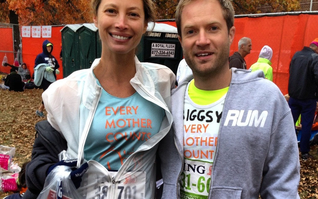 Running the New York City marathon with a supermodel