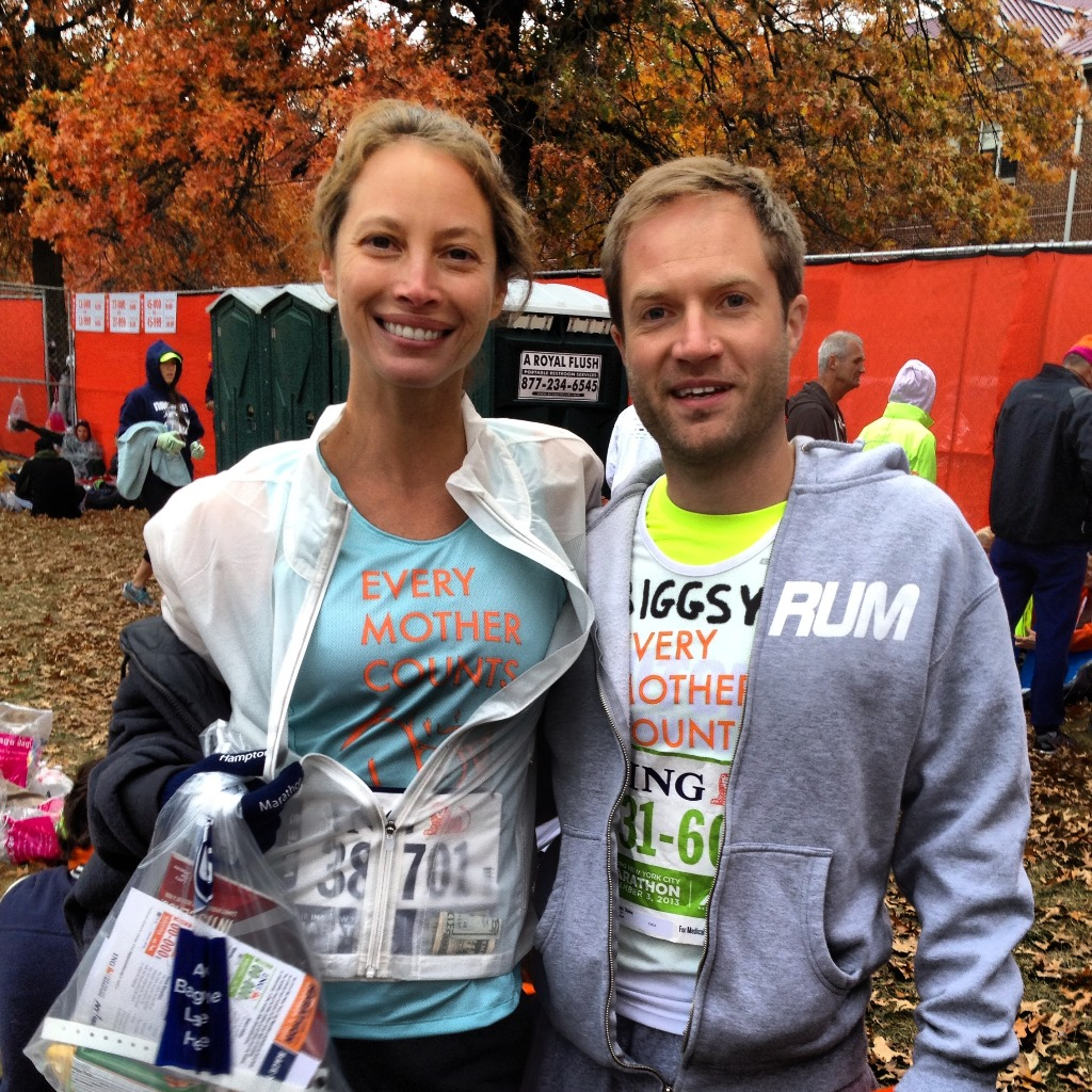 Me and Christy before the start of the New York City marathon