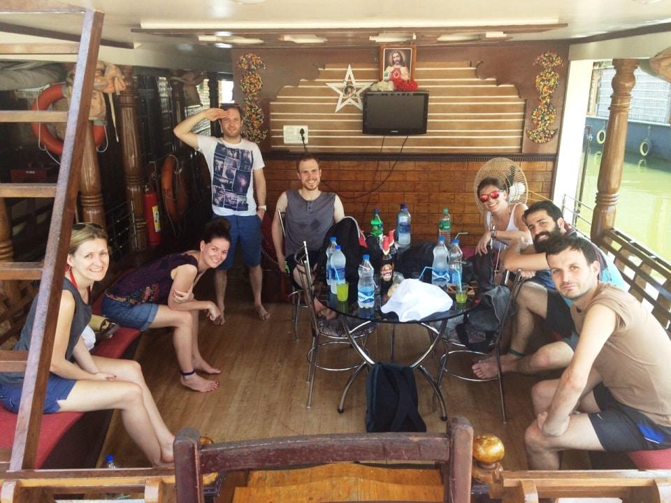 All aboard the Kerala Backwaters houseboat