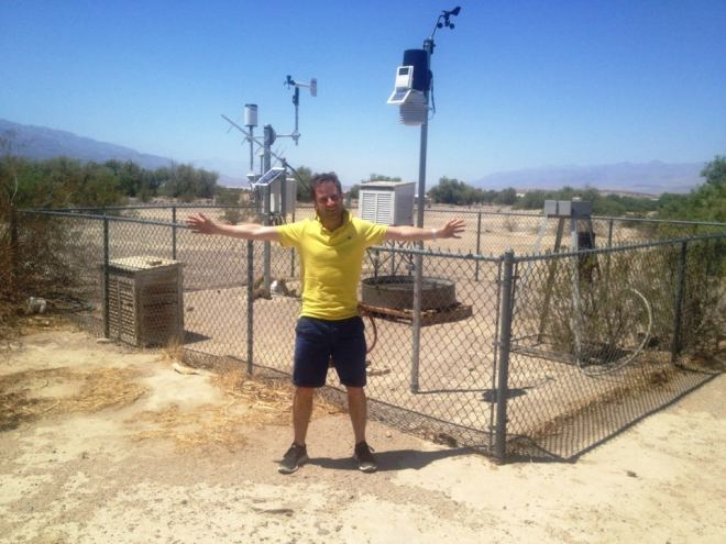 The Furnace Creek weather station today
