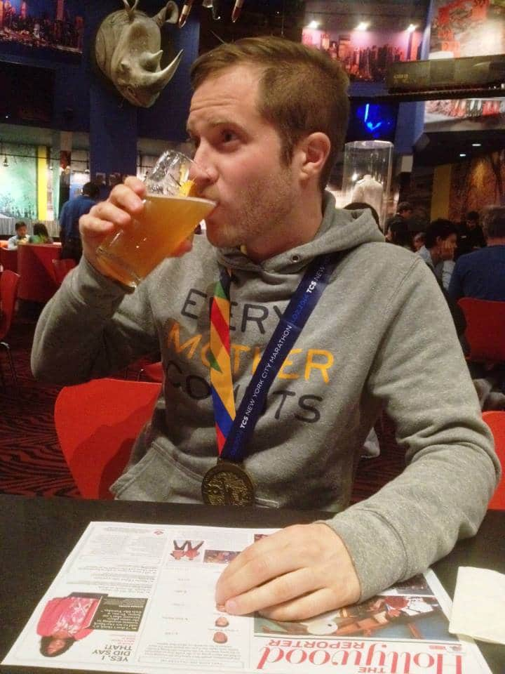 Enjoy a post marathon beer!