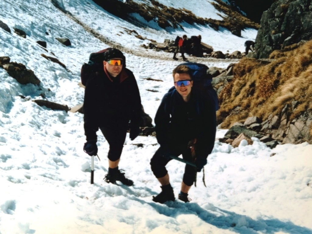 At the start of the Ben Nevis snow line