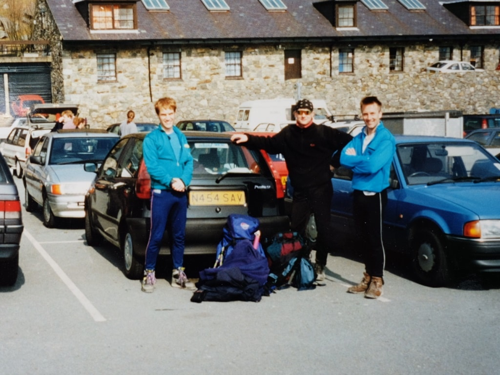 Safely back at Pen-y-Pass car park. Three Peaks Challenge complete!