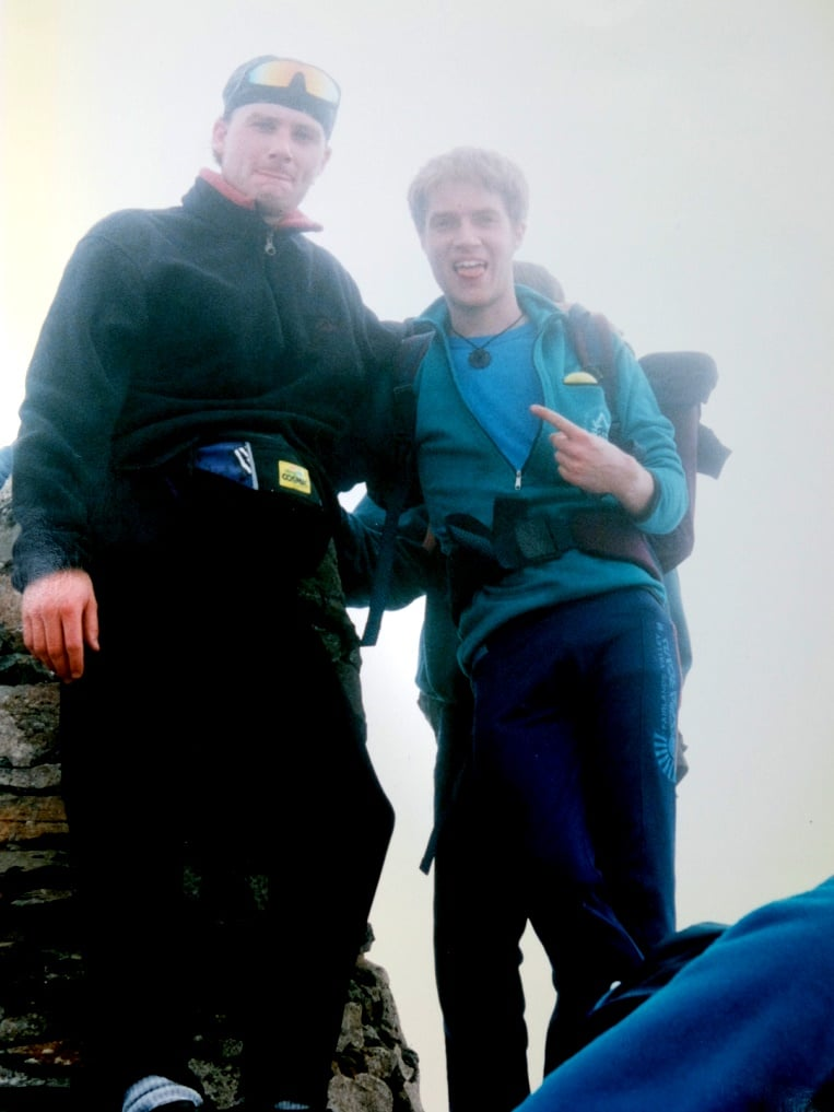 Almost there! On the summit of Snowdon with enough time in the bank still