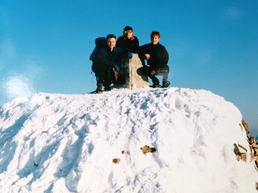 All 3 of us on the Ben Nevis trig point. The highest people on the British Isles