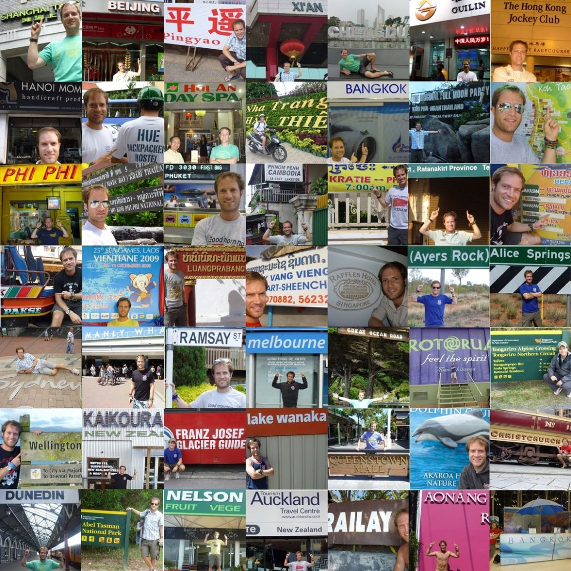 My montage of place name photos