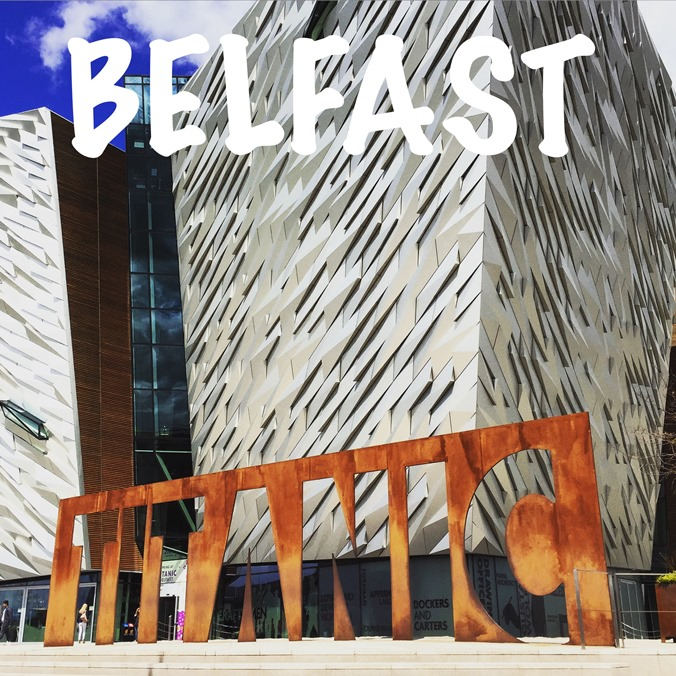 The spectacular frontage of the Titanic museum in Belfast