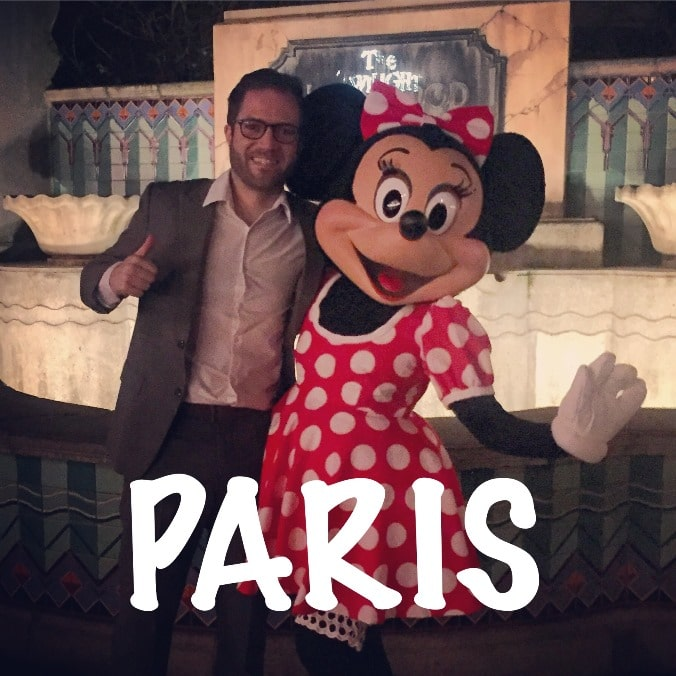 Meeting Minnie Mouse in Eurodisney. The first of my 'Take 12 trips'
