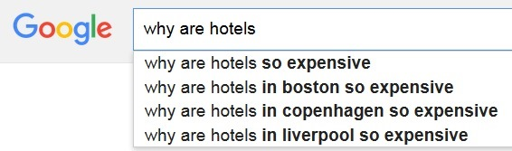15 questions travellers are asking Google autocomplete
