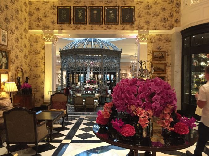 The Savoy's Thames foyer afternoon tea room