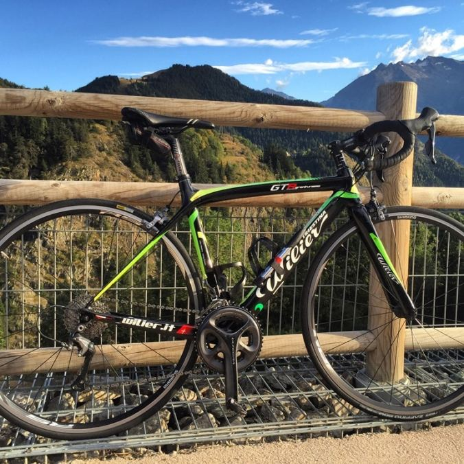 My Wilier Triestina GTR Gran Turismo Bike fom the 'Cycle Huez' hire shop