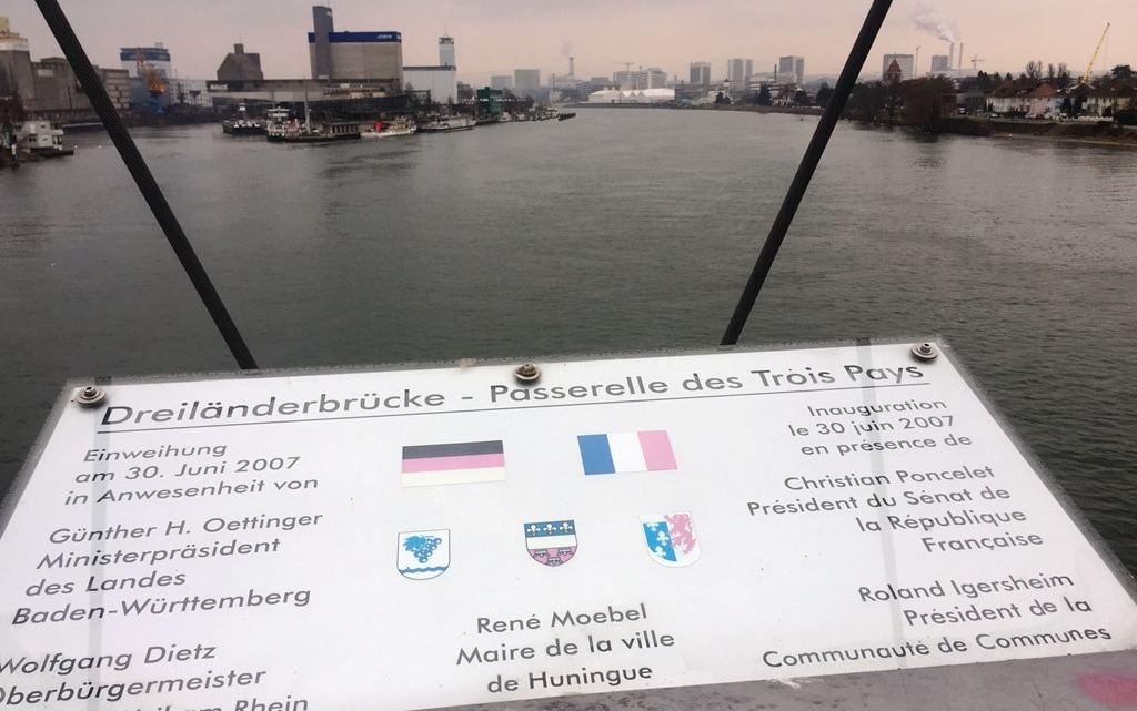 Dreiländereck – walk across 3 countries in 10 minutes