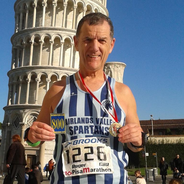 Marathon runner Roger Biggs