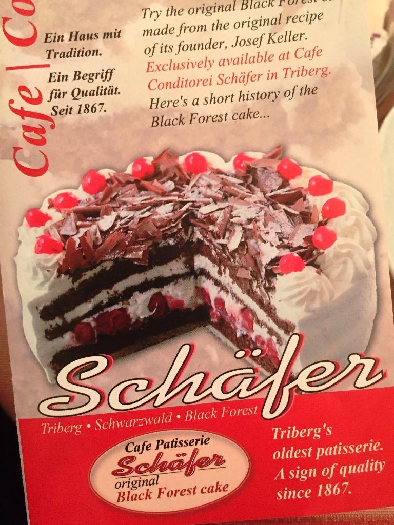 Café Schaefer's tempting leaflet