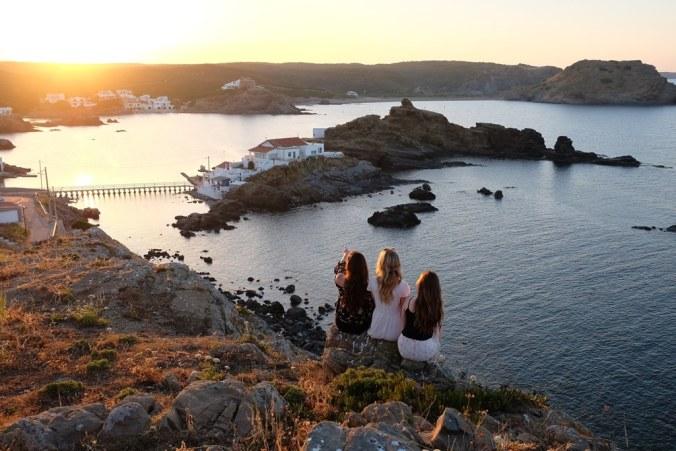 Sunset from Cap Roig restaurant looking over Punta de sa Creueta island