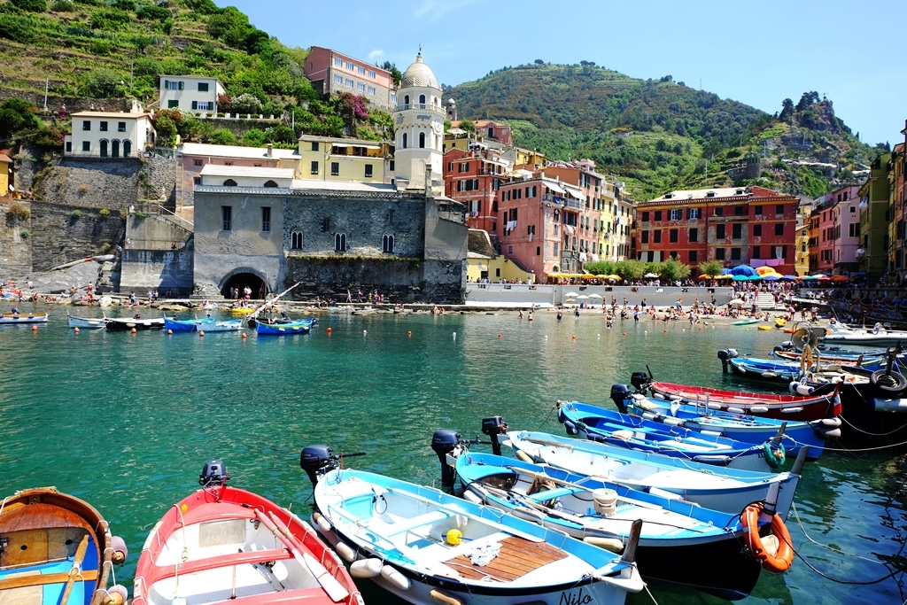 A photo from the harbour wall of Vernazza