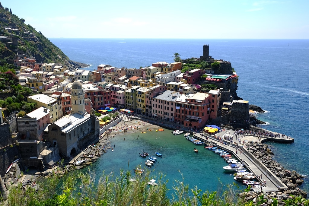 THAT view down to Vernazza below the telegraph wires