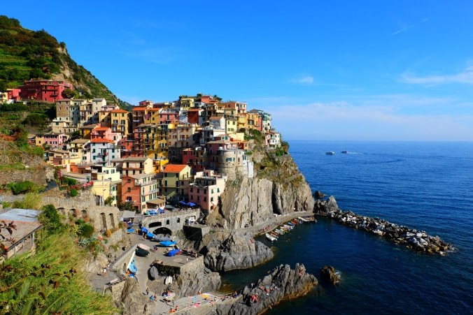 The view of Cinque Terre that everybody comes for. This shot taken from the cemetery wall