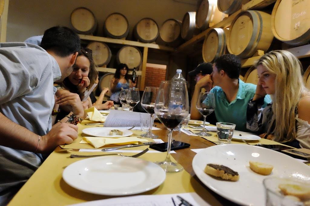 Having lunch at the Poggio Amorelli winery