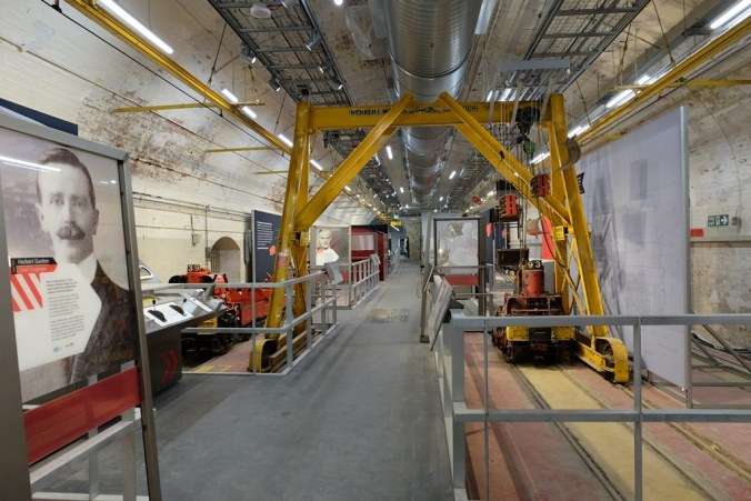 Mail Rail Exhibition with original yellow metalwork