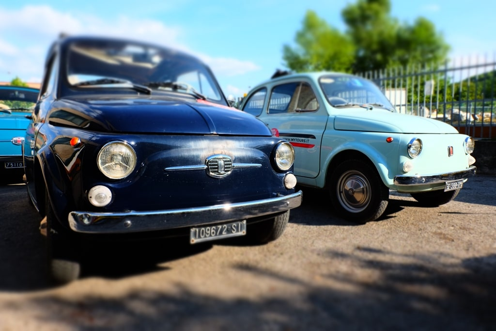 The Fiat 500s 70km later back safe and sound