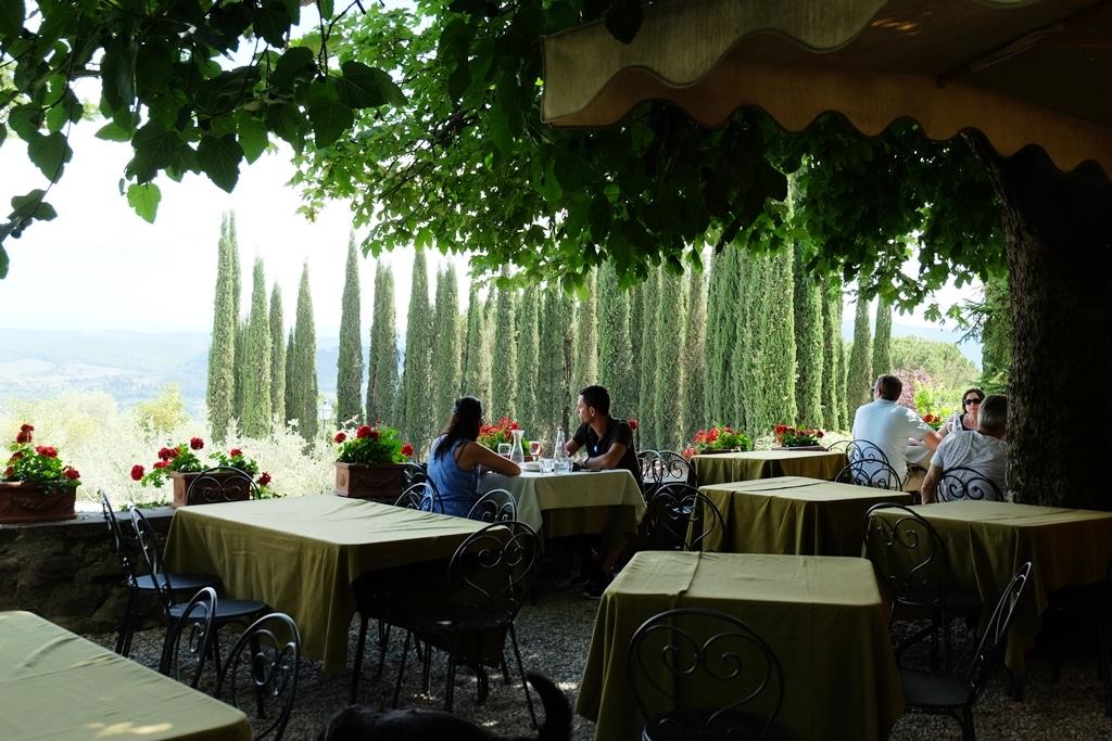 The views from Castello di Volpaia