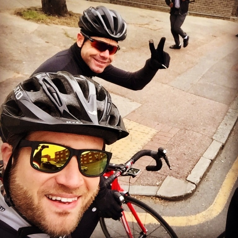 Me and Cadel mid ride