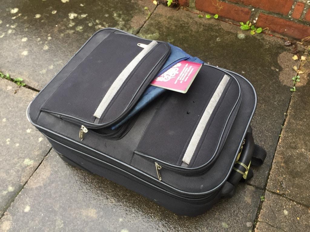 "My ""hand"" luggage and passport where I like to keep item!"