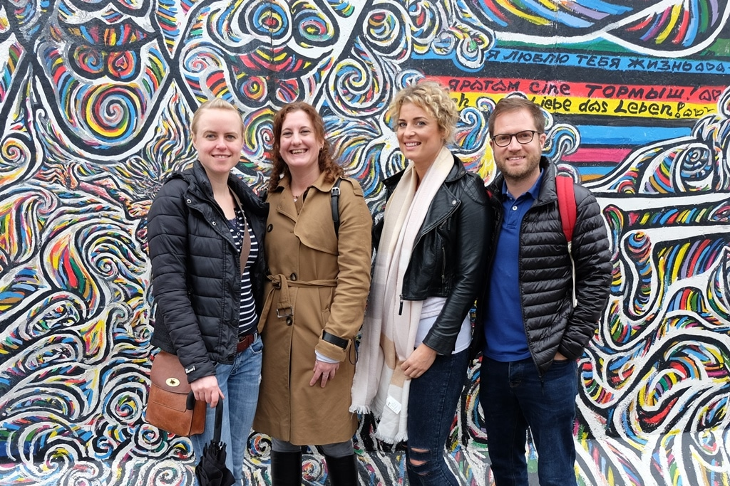 Berlin Wall East Side Gallery Group Shot by Gamil Gimajew
