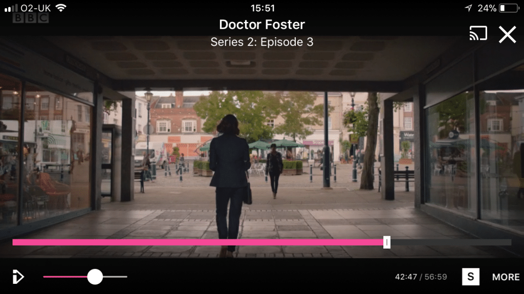 Doctor Foster heading back into the Square