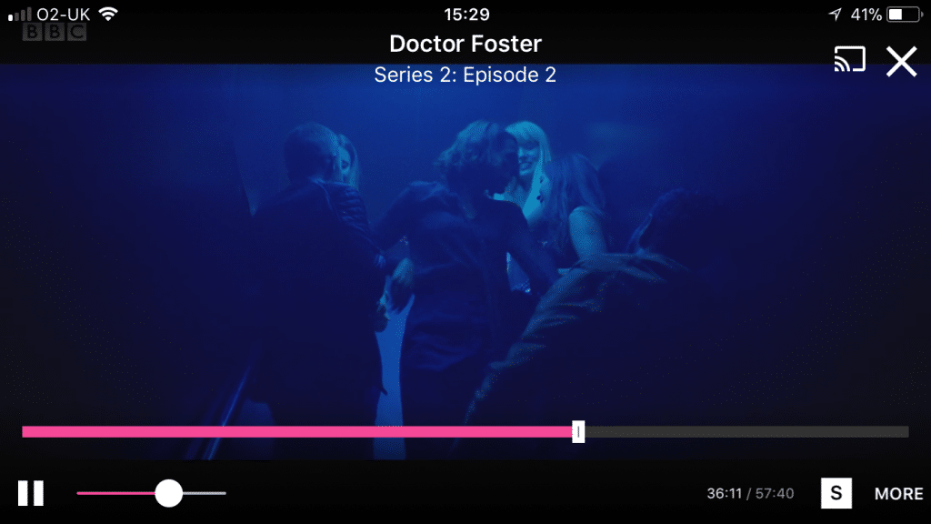 Doctor Foster going up to leave the nightclub