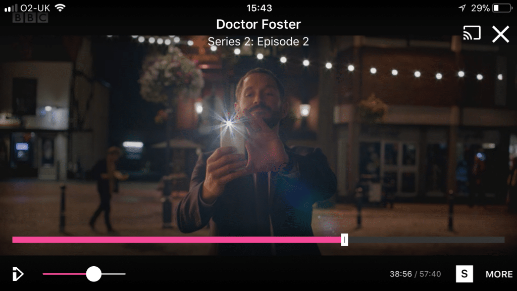 Simon taking that photo of Doctor Foster