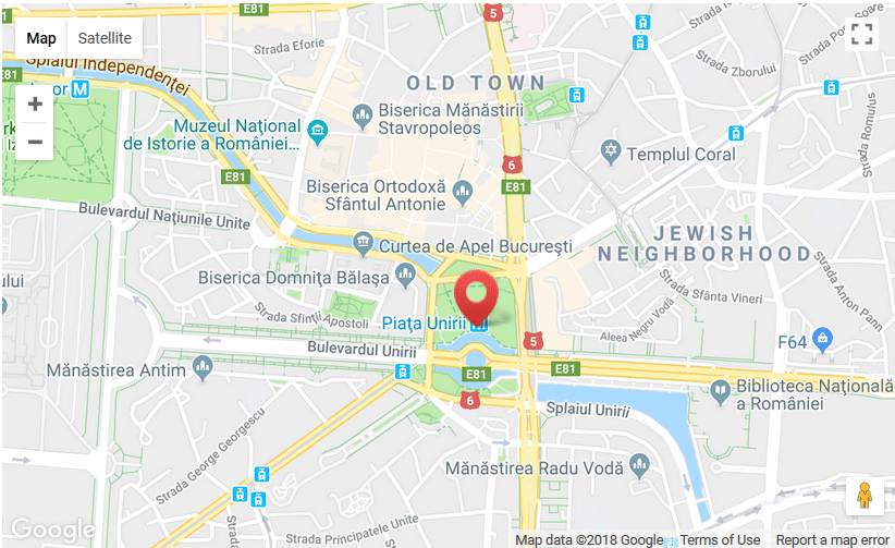 The Bucharest walking tour meeting point