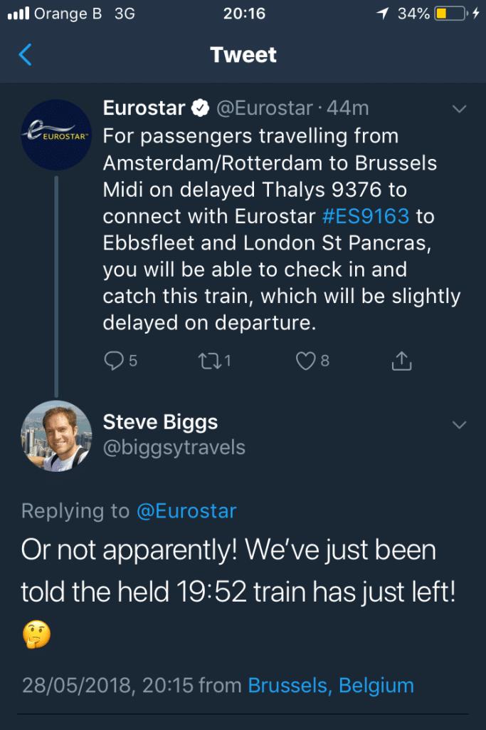 The Eurostar tweet that gave us all a bit of false hope