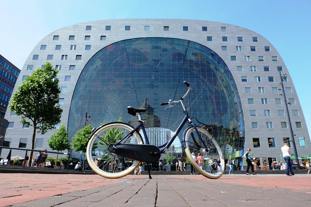 The Rotterdam Markhal and my Fixiebrothers hire bike