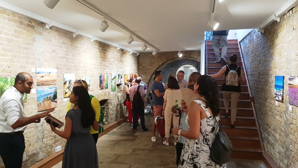 The downstairs area of the Herrick Gallery at the VIP evening