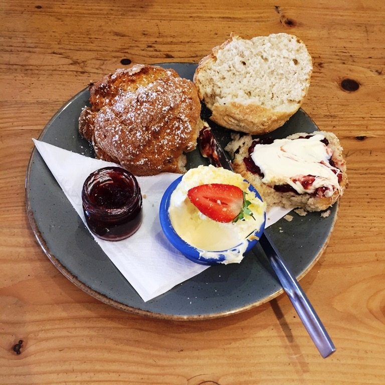 """My first Cornwall cream tea - jam first to follow the """"rules"""""""