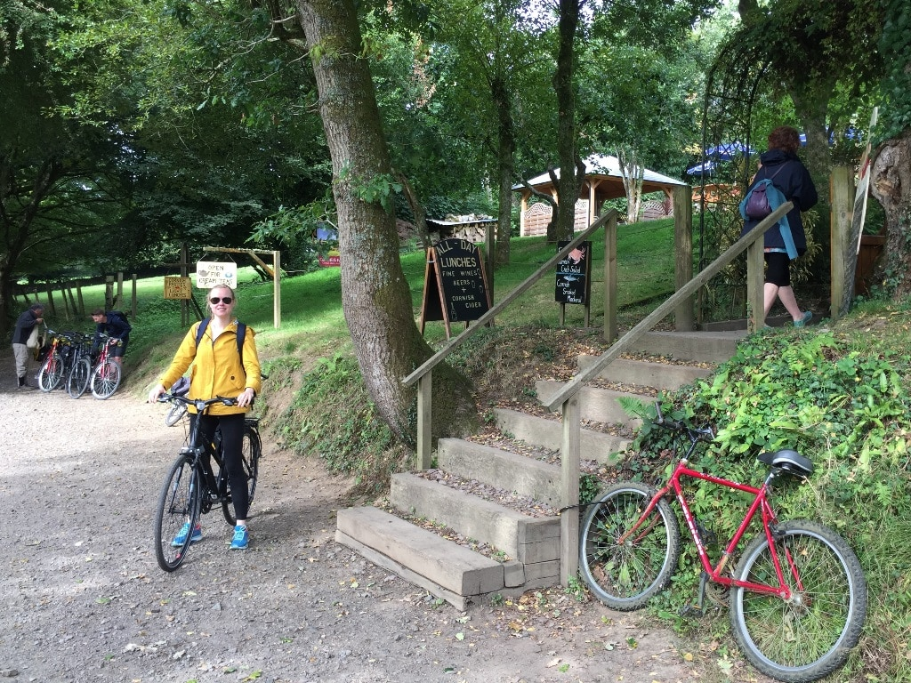 Stopping off at the delightful Camel Trail Tea Gardens