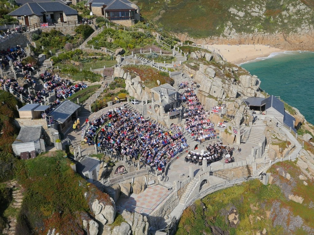 The Minack Theatre from above. Source: The English Home